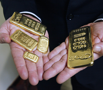Achat de lingots d'or auprès d'un banquier