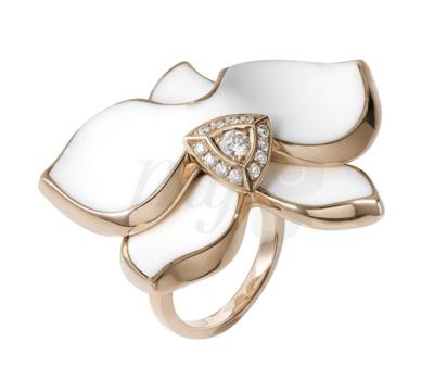 Bague Caresse d'Orchidée Opale Blanche - Cartier