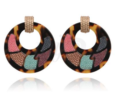 Boucles d'Oreilles Galuchat Coloré - Gas Bijoux