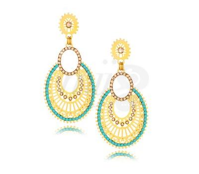 Boucles d'Oreilles Glam Turquoise - Leetal Kalmanson