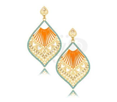Boucles d'Oreilles Neon Orange - Leetal Kalmanson