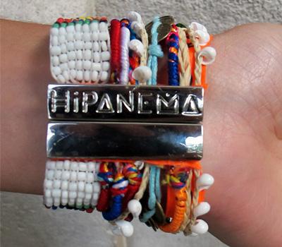 Bracelet brésilien argenté de Hipanema