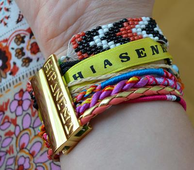 Bracelet brésilien doré de Hipanema