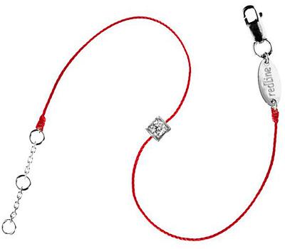 Bracelet diamant princesse sur fil rouge de Redline