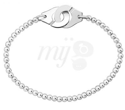Bracelet Menottes Perles Argent - Dinh Van