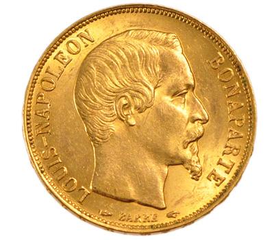 Louis d'or Napoléon Bonaparte de 20 francs de 1852