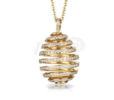 Oeuf Spirale Fabergé Or Jaune et Diamants
