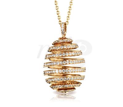 Oeuf Spirale Fabergé Or Rose et Diamants