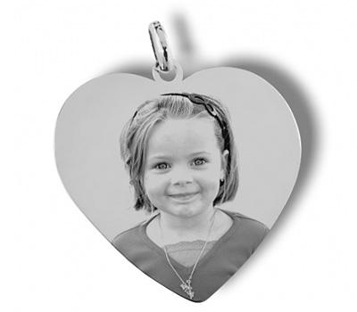 Pendentif coeur avec une photo sur mesure