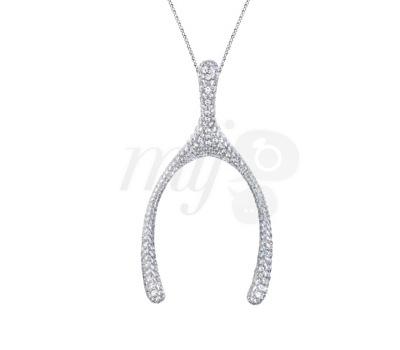 Pendentif Os Wishbone Diamants - Louis Vuitton