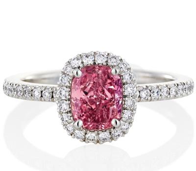 Bague Aura Diamant Rose Coussin - De Beers