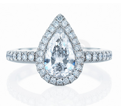 Bague Aura Diamant Poire - De Beers