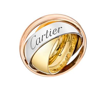 Bague Cartier Trinity en version 3 ors