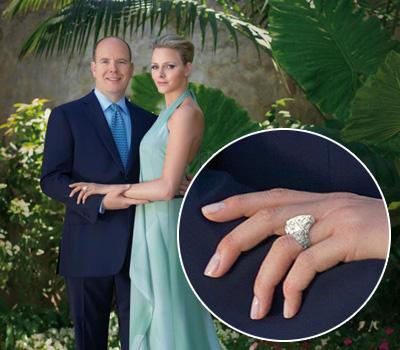 Tout sur la bague de fiançailles de Charlène Wittstock