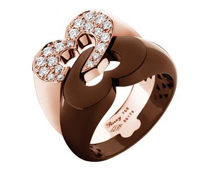 Bague coeur de Poiray avec diamants