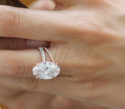 Bague de Fiançailles Or Rose Diamant - Blake Lively