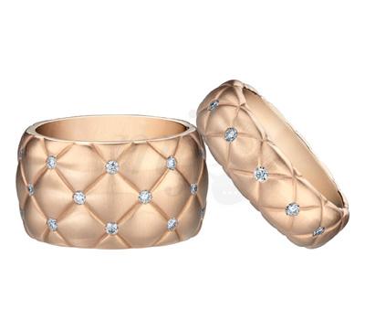 Bagues Matelassé Diamants - Fabergé Joaillerie