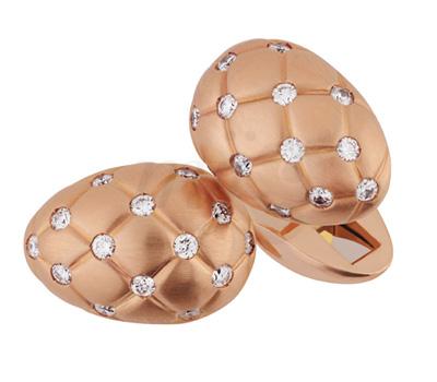 Boutons de Manchette Matelassé - Fabergé Joaillerie
