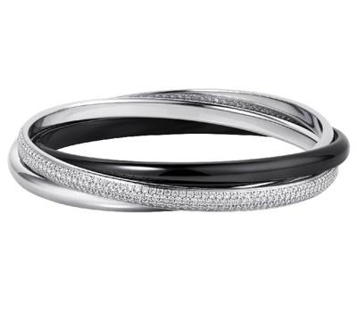 Bracelet Cartier Trinity version céramique et diamants