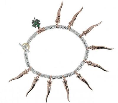 Bracelet Cornes d'Abondance en or rose, argent et tsavorites de Dodo Pomelato