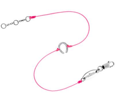 Bracelet Fer à Cheval sur cordon et diamants de Redline