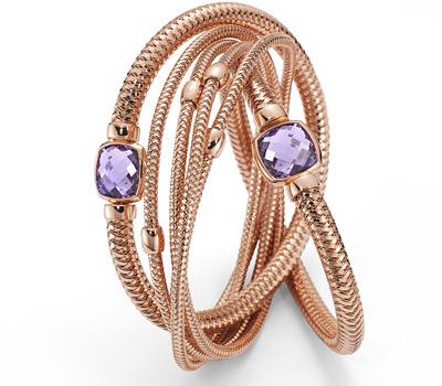Bracelet Roberto Coin en or rose et améthyste