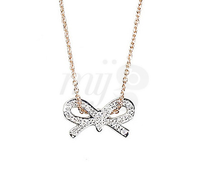 Collier Noeud Diamants - Ginette Ny