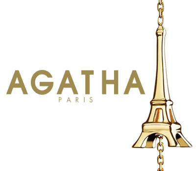 Collier Tour Eiffel Agatha mini joaillerie