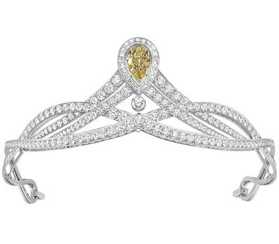 Diadème Joséphine en platine et diamant jaune de Chaumet