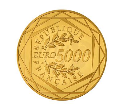 Pièce 5000 Euros Or - Monnaie de Paris
