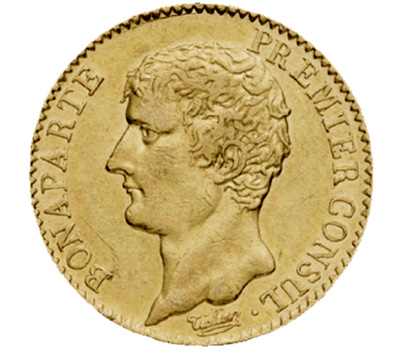 Pièce Napoleon de 20 Francs Bonaparte 1er Consul