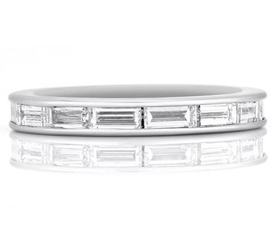 Alliance en diamants et or blanc pour homme