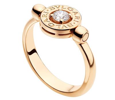 Bague de fiançailles en or rose de Bulgari