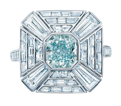 Bague diamant bleu de Tiffany & Co