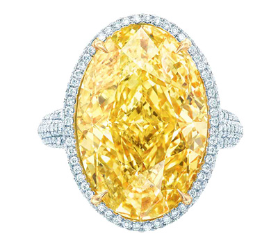 Bague diamant jaune de Tiffany & Co