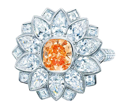 Bague diamant orange de Tiffany & Co