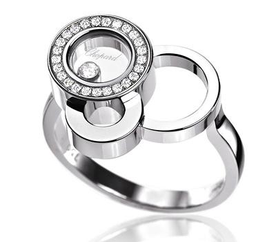 Bague en or blanc et diamants pour femme de Chopard