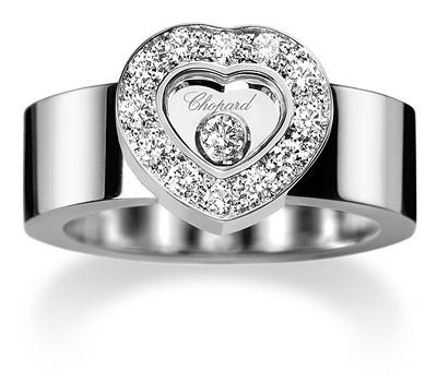 Bague femme en or blanc et diamant de Chopard
