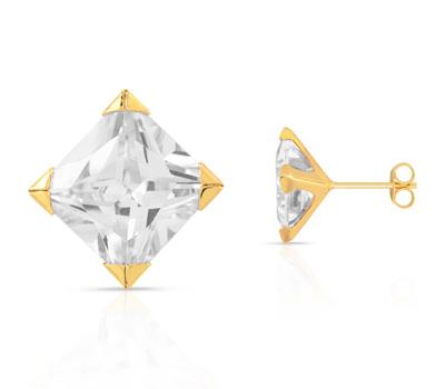 Boucle d'oreille vrai diamant