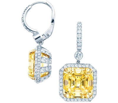 Boucles d'oreilles diamant jaune de de Tiffany & Co