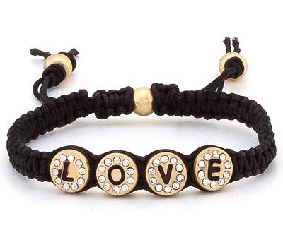 Bracelet en macramé fait à la main avec des boules Love