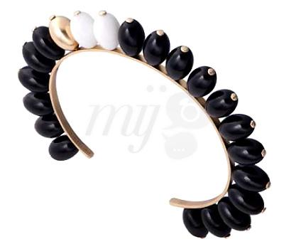 Bracelet Manchette Tiare Onyx et Agate - Aimée Aimer