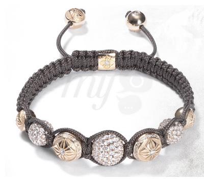 Bracelet Or Rose Shamballa