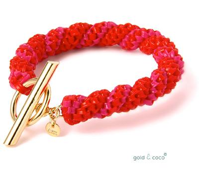 Bracelet Scoubidou dorés de Gold & Coco