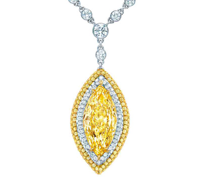 Collier diamant jaune de Tiffany & co