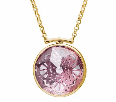 Collier Swivel avec une pierre facetée de Perle de Lune
