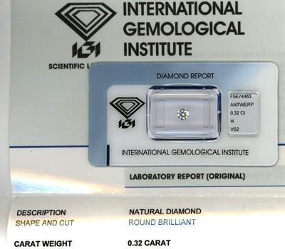 Diamant avec certificat IGI