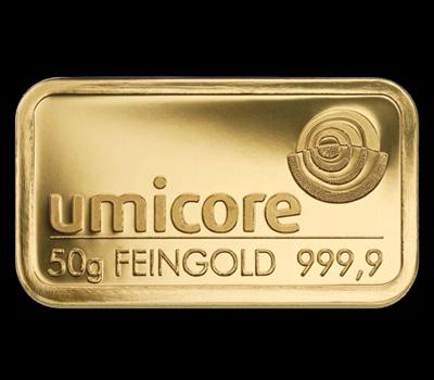 Lingot d'or de 50g Umicore