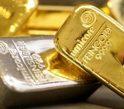 Métaux précieux - lingots d'or et d'argent