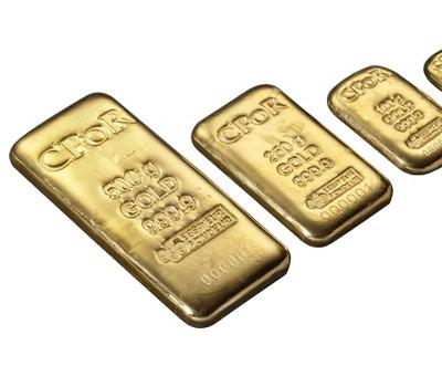 Mini lingot d'or de 24 carats chez CPoR